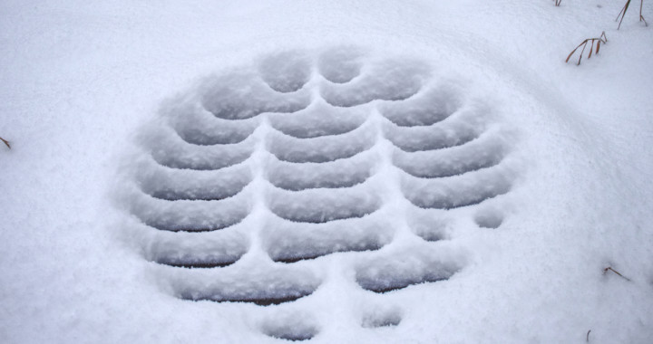 snowy sewer